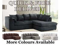NEW Cheap Sofas Fabric Corner Couches Quick Delivery Foam Filled 3 + 2 CHEAPEST ON THE INTERNET