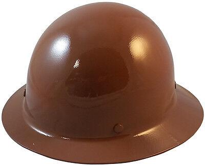 Msa Brown Skull Gard Fiberglass Fb Hard Hat With Ratchet Or Pin Lock Susp