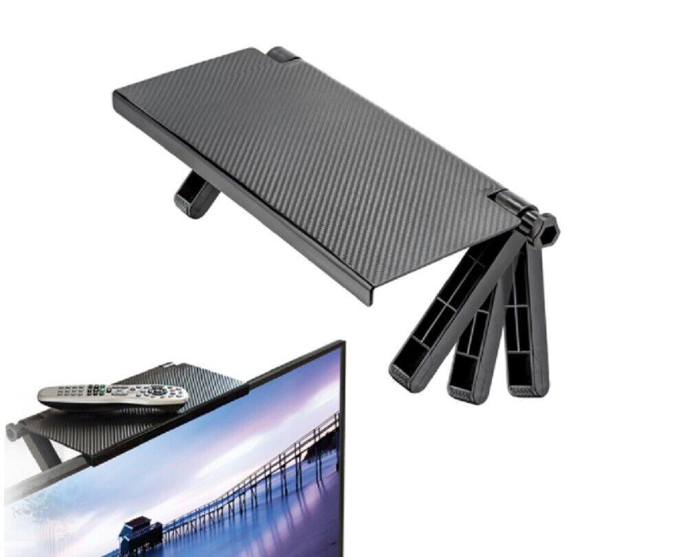 TV Computer Screen Caddy Screen Top Shelf Desktop Adjustable Storage Rack Holder Home & Garden