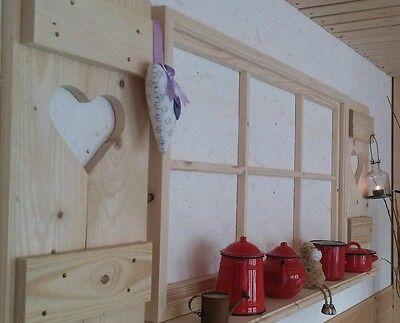Shabby Fensterladen♥ Sprossenfenster Deko Esszimmer Foto-Rahmen Holz Landhaus