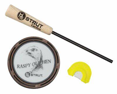 HS Strut Raspy Old Hen Glass Pan Turkey Call & Diaphragm Call D2859 Hen -