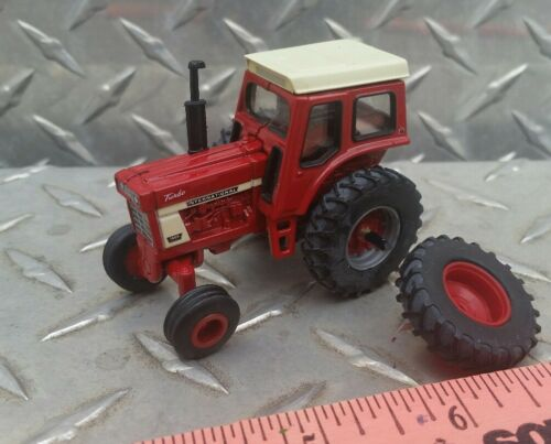 1/64 ertl custom farm toy ih international 1066 tractor red