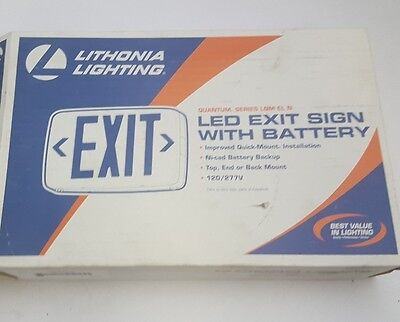 lithonia lighting led exit sign, QUANTUM SERIES, model LQM S W 3 R 120/277 for sale  Shipping to India