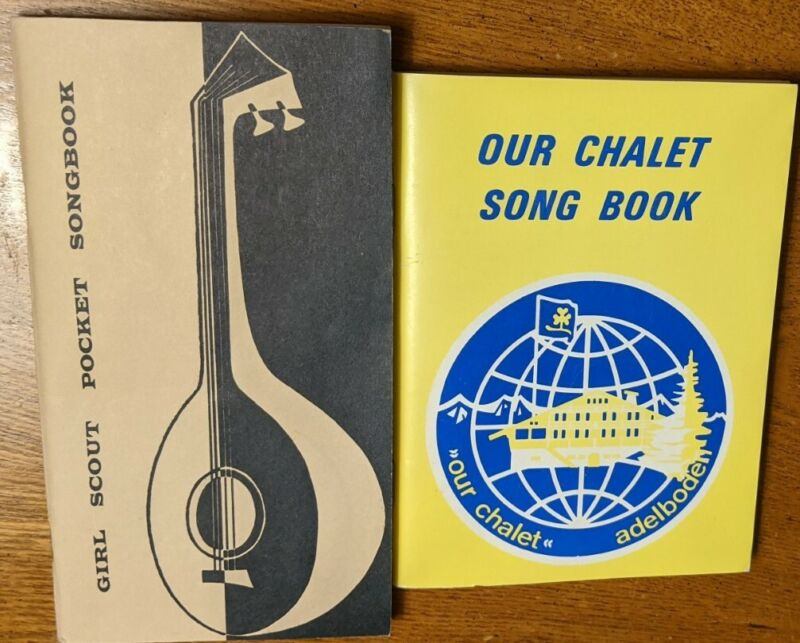 Girl Scout Pocket Songbook And Our Chalet Song Book