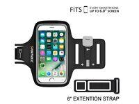 Universal Sweat Resistant Sports Armband Phone Holder - Inc Key & Card Holder - iPhone Samsung More