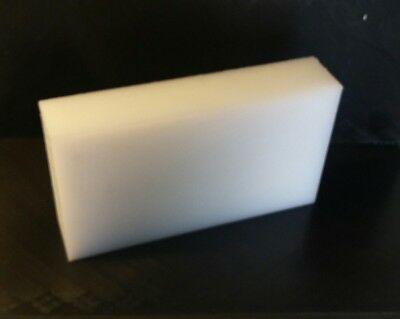 "6.5/"" x 22.5/"" 3//4/"" UHMW Natural Sheet CNC Mill Stock Plastic"