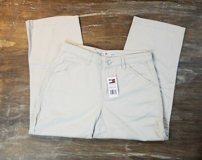 NEW Womens Tommy Hilfiger Chino Capri Career Casual Pants Light Khaki NWT Sz 4
