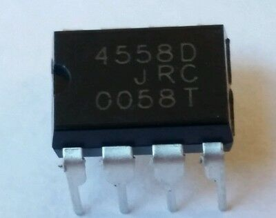 4 Pcs Jrc4558d And 4 Dip-8 Sockets Replaces Lm4558 Rc4558usa Seller