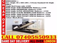 BRAND NEW KING SIZE SINGLE DOUBLE LEATHER STORAGE Bed With Mattress Minden
