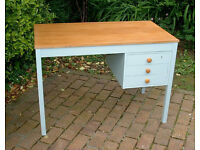 Shabby Chic Desk with 3 Drawers - Mid Century - Home or Office