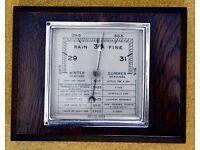 Vintage Square Oak Barometer