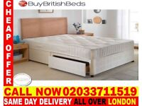 BRAND NEW SMALL DOUBLE DIVAN BED WITH MATTRESS Staples