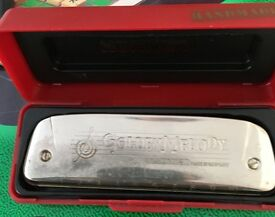Golden melody harmonica for sale