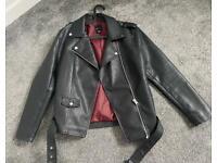 Faux leather jacket size 14