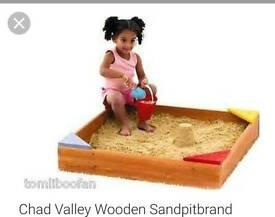 Chad Valley wooden sandpit