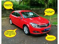£20 wk 1 LADY owner/STUNNING!! vauxhall astra SXI 1.4 petrol manual 2009 (09) NEW mot ALLOYS