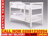 WOW SUPPER QUALITY Double Single WOODEN Bunk Base, That convert into two- /Bedding Deer Park