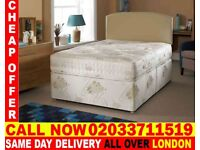 BRAND NEW SMALL DOUBLE DIVAN BED WITH MATTRESS Morrill