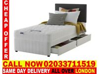 Brand New Single Divan Bed Available with Mattress Stedman
