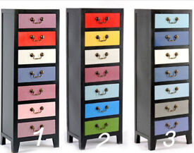 Tall Chest of Drawers Filling Cabinet Vintage Retro Style Tall