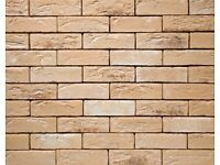 Brick tile - slips TOSCANE brown,yellow, white flamed color ref 483 WDF, Hand moulding,