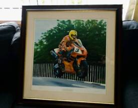 Limited edition Joey Dunlop print Signed by Artist