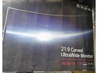 New LG 34-Inch Curved Ultra Wide WQHD IPS LED Monitor - Black