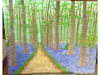 Original Art Bluebell woods