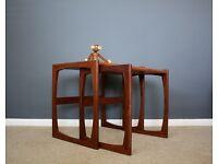 G Plan Retro Quadrille Teak Nest Of Tables Mid Century 60s