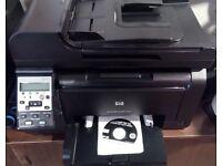 colour multifunction laser printer A4 HP LaserJet Pro 100 color MFP M175nw wifi mint condition