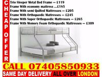 Brand New Bunk .. bed Single Double And Mattress ..CALL NOW Seaside