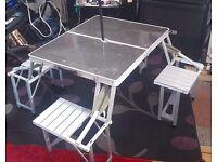 Foldaway picnic table & chairs