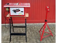 'Power Devil PDW5012' Circular Bench/Table Saw + Work Bench & Roller Support Stand