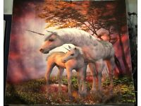 "HUGE unicorn & baby wall decoration - NEW - 58"" x 50"""