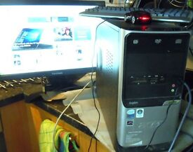 Acer tower case only core duo 2.4Ghz 320 gegabyte hard drive good condition