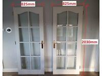 Glass Panel Internal Doors (x2) £15 each