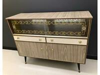 Original Vintage Mid Century Formica Sideboard Drinks Cabinet
