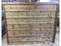 Wayneylap/ Straight Top/ Arch Top Wooden Tanalised Garden Fence Panels > Heavy Duty