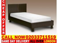 BRAND NEW SINGLE KING SIZE AND DOUBLE SIZE LEATHER BED Available With MATTRESS Moko