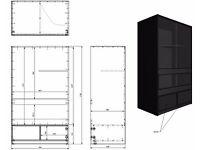 Bespoke Vivarium 1000 (W) x 600 (D) x 1700mm (H) to self assembly
