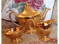 Royal Winton Grimwades teapot, cream and sugar