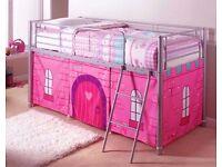 2 x midsleeper metal frame full size single cabin beds, princess