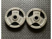 20kg cast iron tri grip olympic weights