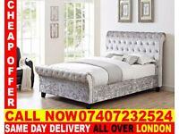 DOUBLE SLEIGH BED SET IN CHEAPER PRICE AND MATTRESS. Hedgesville