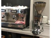 2 group coffee machine for sale with grinder