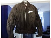 FIRSTGEAR USA MOTORCYCLE MESHTEXT ARMOUR JACKET SIZE LG WORN ONLY A FEW TIMES