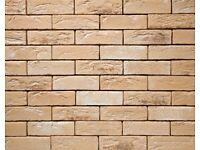 Brick tile - slips TOSCANE brown,yellow, red flamed color ref 483 WDF, Hand moulding