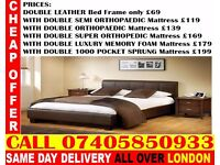 BRAND NEW KING SIZE SINGLE DOUBLE LEATHER STORAGE Bed With Mattress Cuba