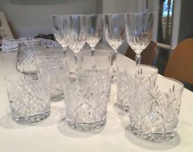 Collection of Austrian crystal glassware