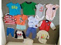 Baby different clothes bundle size 9-12